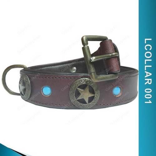Leather Dog Collar - LCOLLAR 001