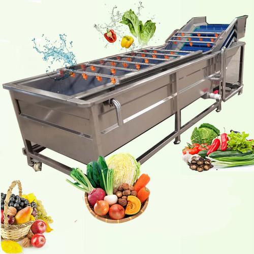 Stainless steel conveyor vegetable fruit bubble washing machine