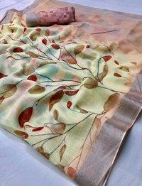 Linen Printed Sarees