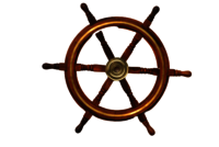 18 Inch Wooden Ship Wheel With Brass Ring