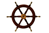 18 Inch Wooden Ship Wheel With Brass Handle