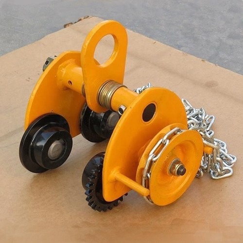 Hoist Manual Beam Geared Trolley for Lifting Chain/hoist Block Capacity 1000kg