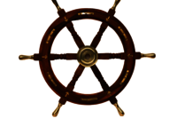 18 Inch Wooden Ship Wheel With Brass Handle And Brass Anchor
