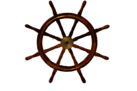 36 Inch Wooden Ship Wheel With Brass Ring