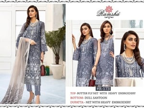 Latest Peach Designer Party Wear Pakistani Suit