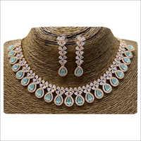 Ladies Rosegold Necklace Set