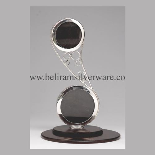 Unique Round Silver Baby Photo Frame