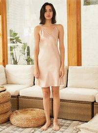 V Neck Mulberry Silk Dress/ Cami Dress For Women