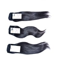 High Quality Natural Raw Virgin Unprocessed Mink Indian Machine Double Wefted Straight Hair Extension