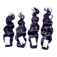 High Quality Natural Raw Virgin Unprocessed Mink Double Weft Wavy Hair Bundles