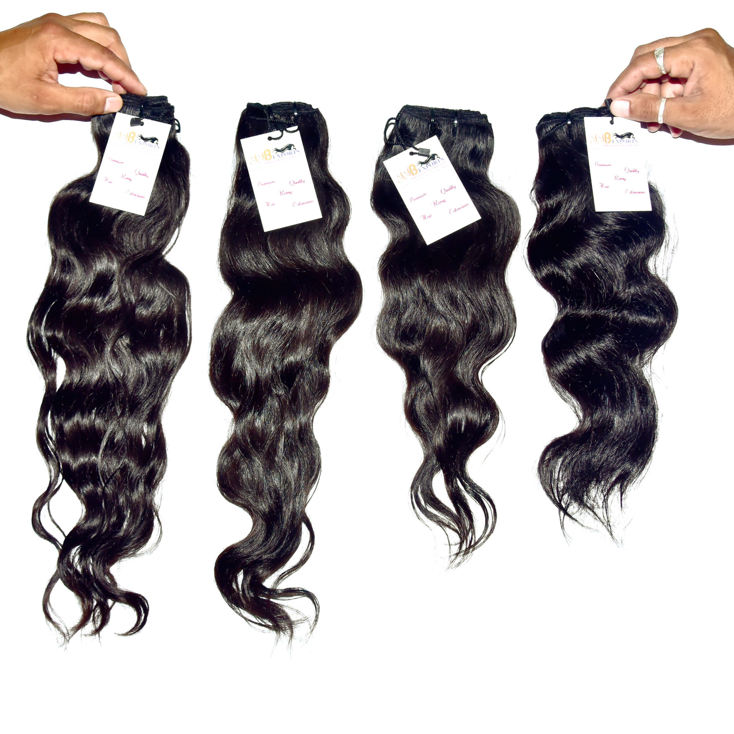 High Quality Natural Raw Virgin Unprocessed Single Donor Mink Wavy Hair Extensions