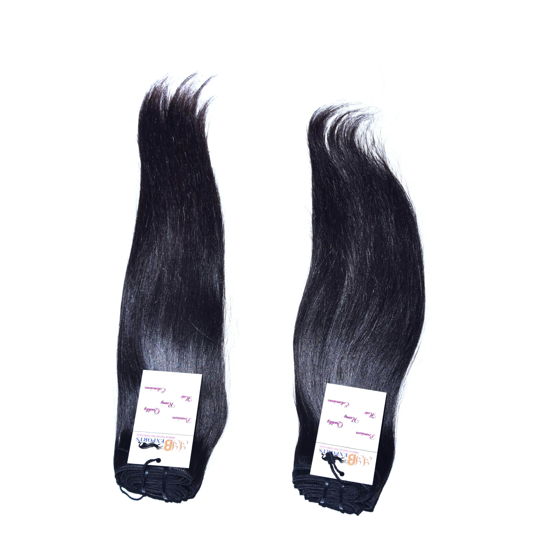Natural Raw Virgin Unprocessed Mink Brazilian Double Weft Straight Hair Bundles