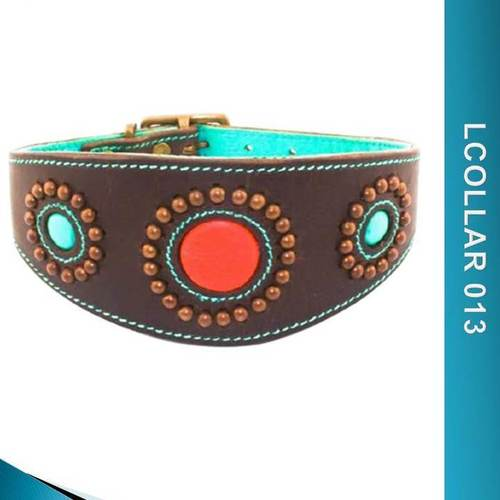 Personalized Leather Dog Collars - Lcollar013