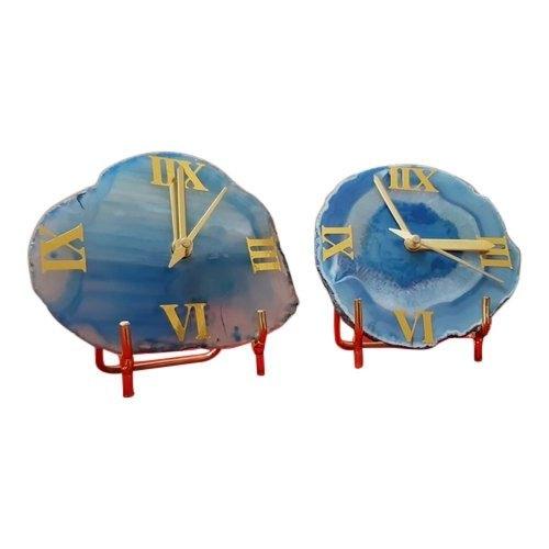 Agate Coasters Clock