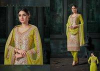 Kashmiri Queen Ladies Wear Cotton Weaving Jacquard Dress Materials