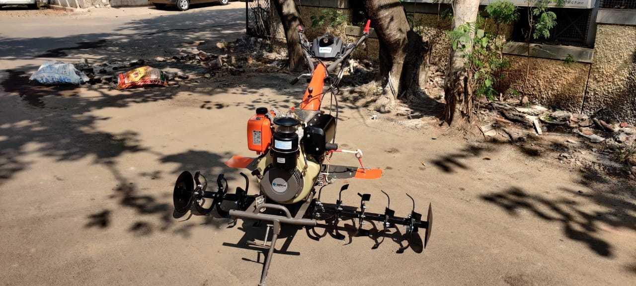 Shrachi 8D6 Diesel Power Weeder, 9 HP 4 Stroke, 5 Feet Cultivator