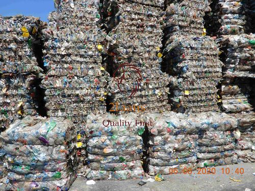 PET bottles post-consumer in bales