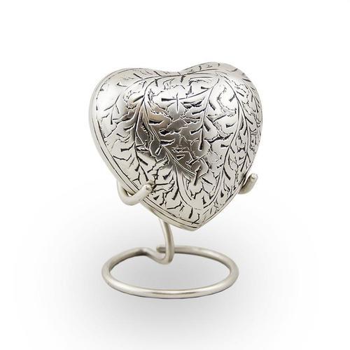 Silver Heart Keepsake Urn