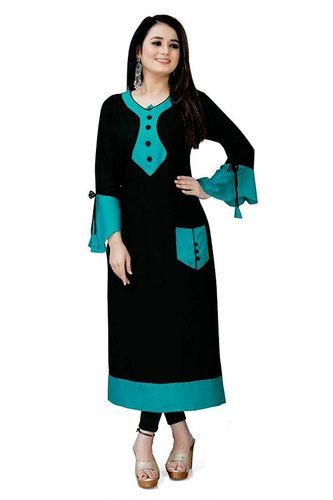 Genric Women Rayon Royal Havvy Kurti