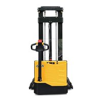 1500kg 1.5 ton Capacity Economical Walkie Semi Electric Stacker With Adjustable Forks