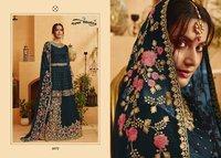 Kohinoor Pakistani Salawar Kameez Skirt With Short Top Heavy Embroidery