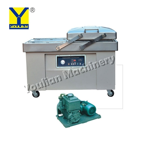 DZ500-2SB Automatic Double Chamber Food Tray Sealer Bulk Vacuum Packing Machine for Meat and Vegetable