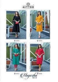 Mayurika Vol 2 Ladies Wear Rayon Viscose Two Tone Kurtis