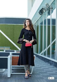 Mayurika Vol 2 Ladies Wear Rayon Viscose Two Tone Kurtis