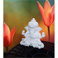 3D Printed Attractive Lord White Ganesha
