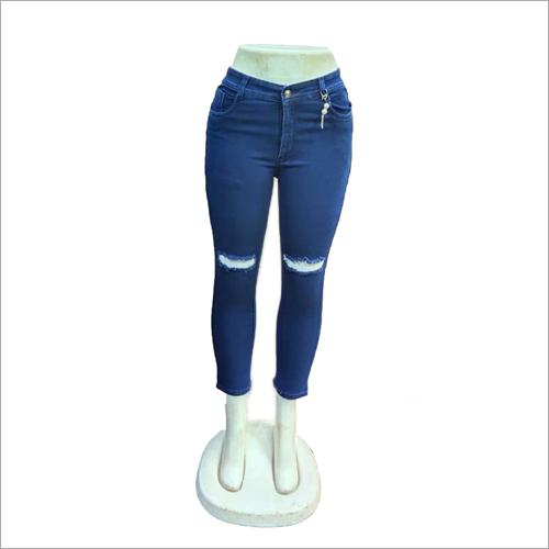 Girls Torn Denim Jeans