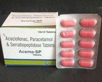 Aceclofenac, Paracetamol And Serratiopeptidase Tablet