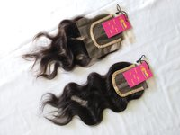 Raw Unprocessed Cuticle Aligned Natural Wavy Transparent Lace Closure Hair