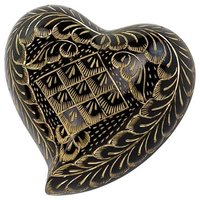 Black Engraved Keepsake Urn