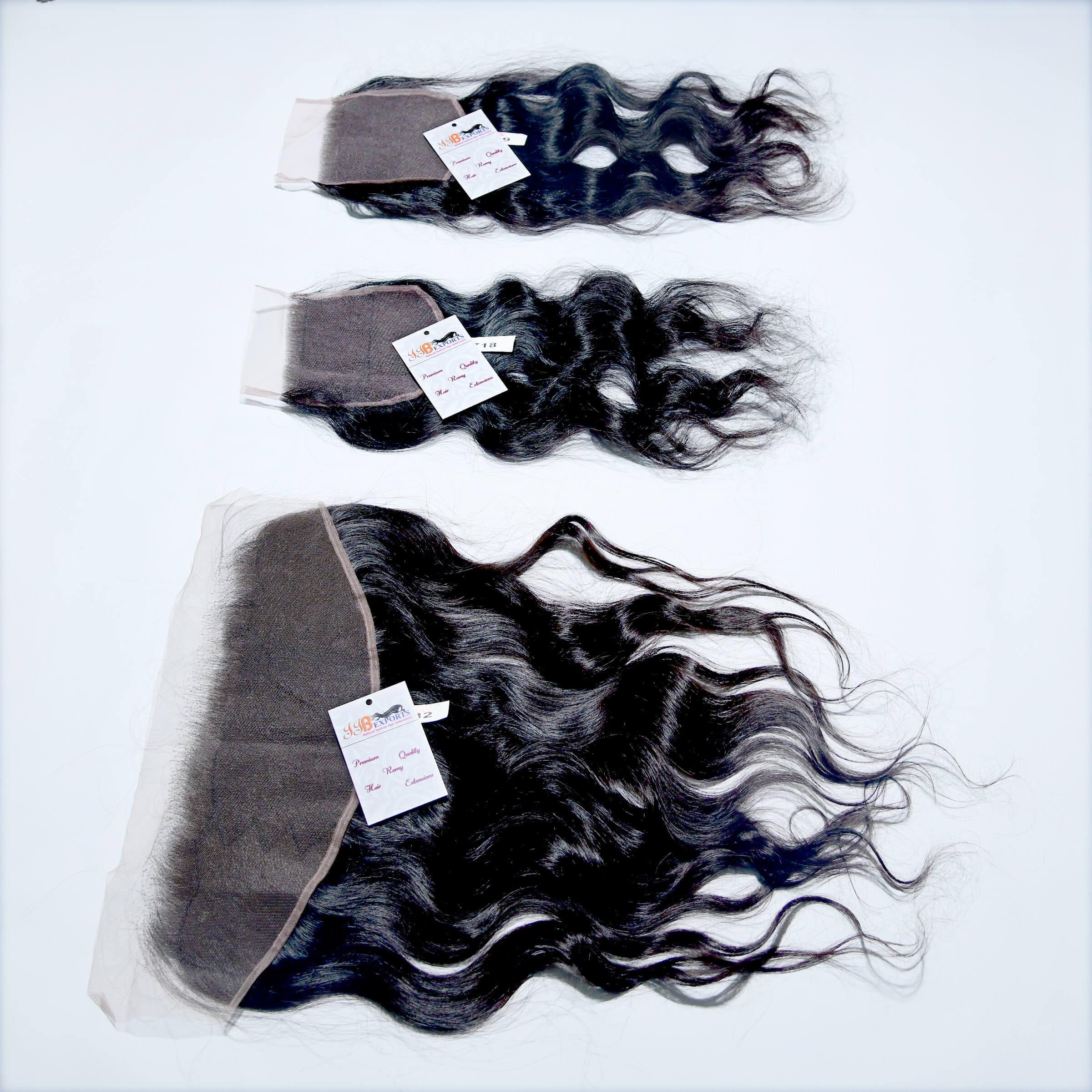 Wholesale Mink Natural Raw Virgin Wavy Hair Thin HD Lace Closure Frontal