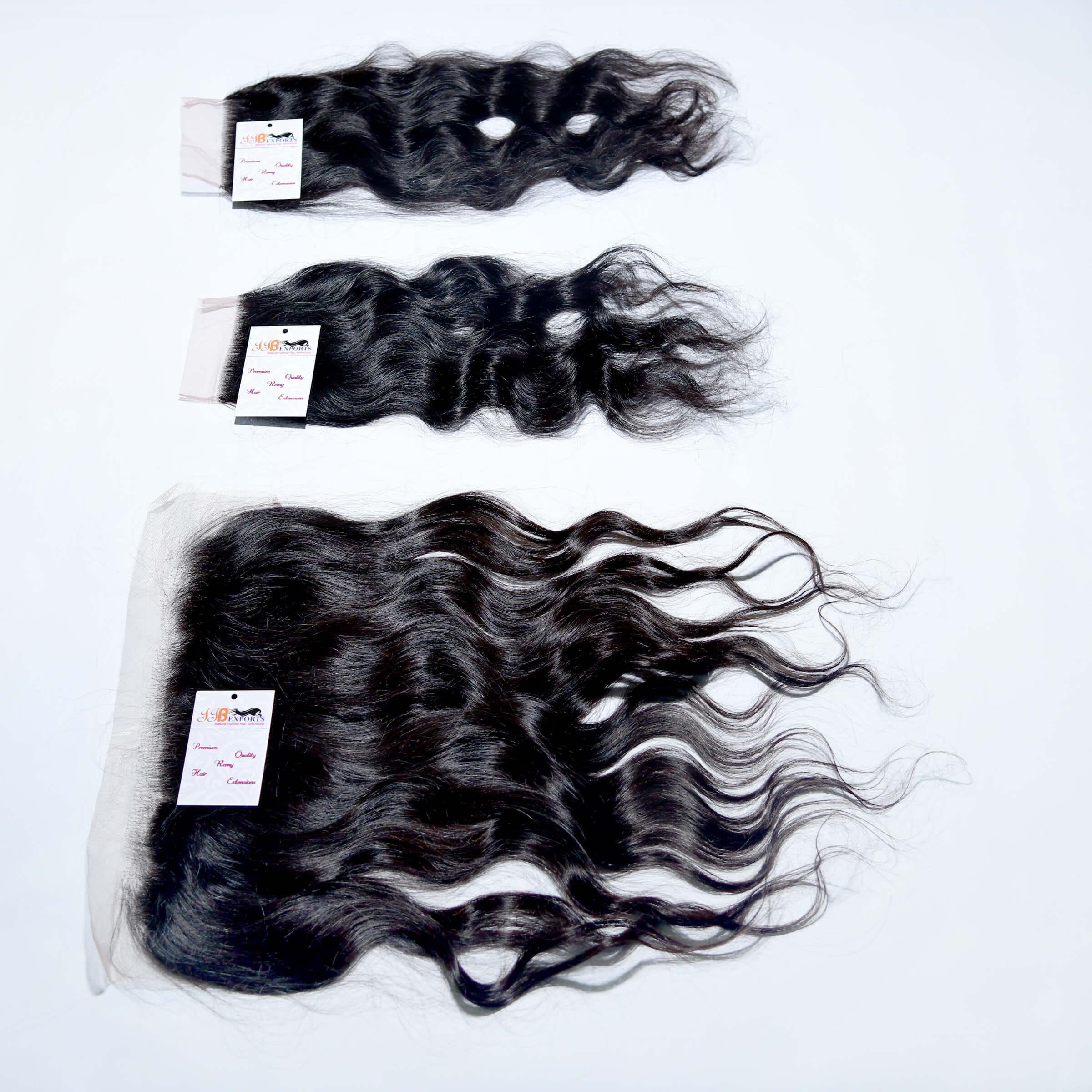 Raw Unprocessed Natural Wavy Thin Lace Frontal Hair Closure