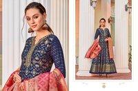 Virasat Vol Sparsh Jacquard Gown Exclusive Collection