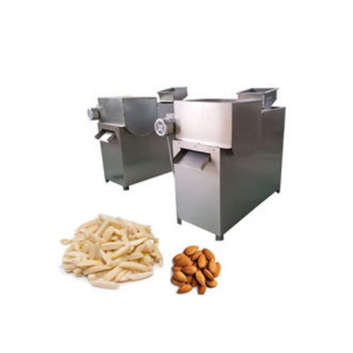 Almond strip cutting machine