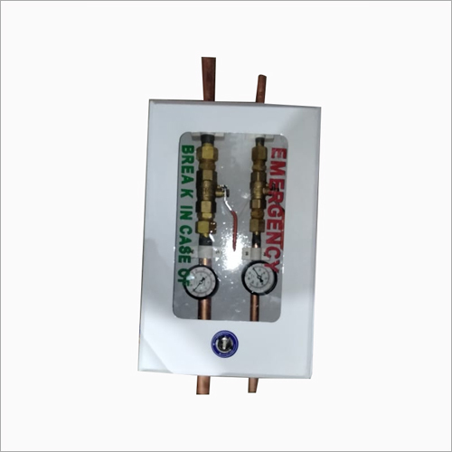 Two Gases Wall Box With Pressure Gauge