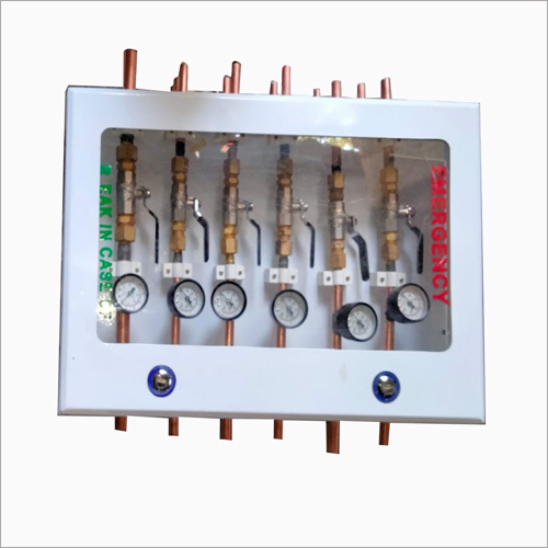 Six Gases Wall Box With Pressure Gauge