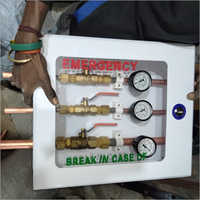 Three Gases Wall Box With Pressure Gauge