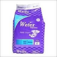 Multicolor Medium Pack Of 10 Wetex Supreme Adult Diaper