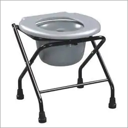 Folding Commode Stool Imported With Pot