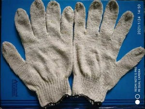 White Industrial Cotton Gloves
