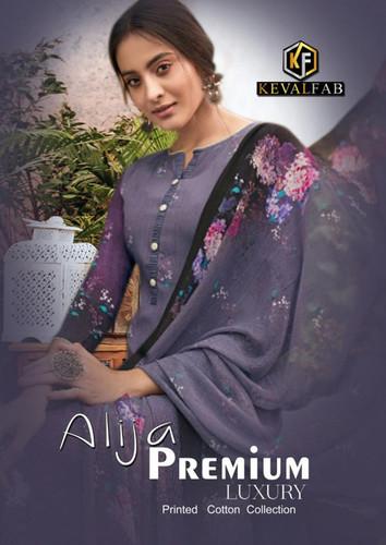 Keval Fab Alija Premium Luxury Printed Cotton Suits Catalog Collection