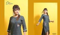 Destiny International Delight Vol-1 Rayon Rich Look Art Hand Work Kurti Catalog