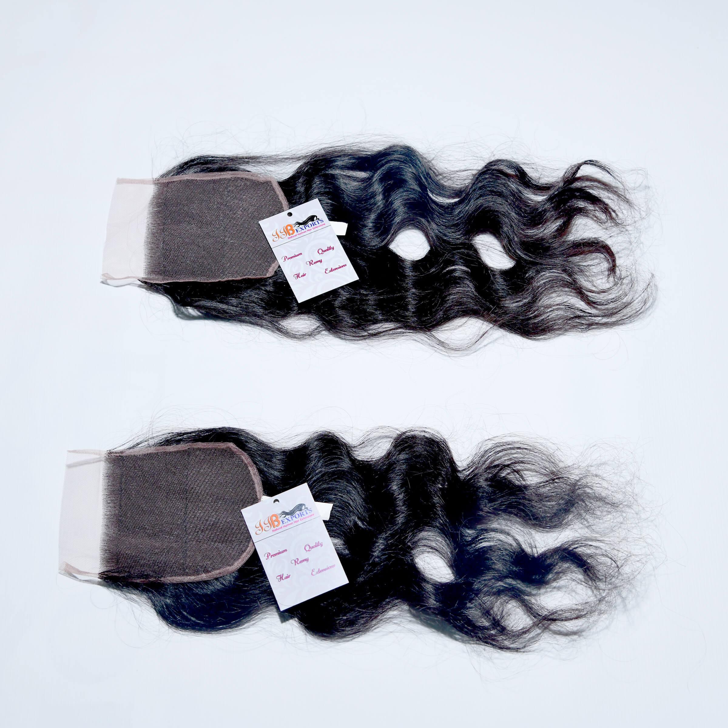 High Quality Natural Virgin Raw Wavy Hair Swiss HD Thin Lace Closure
