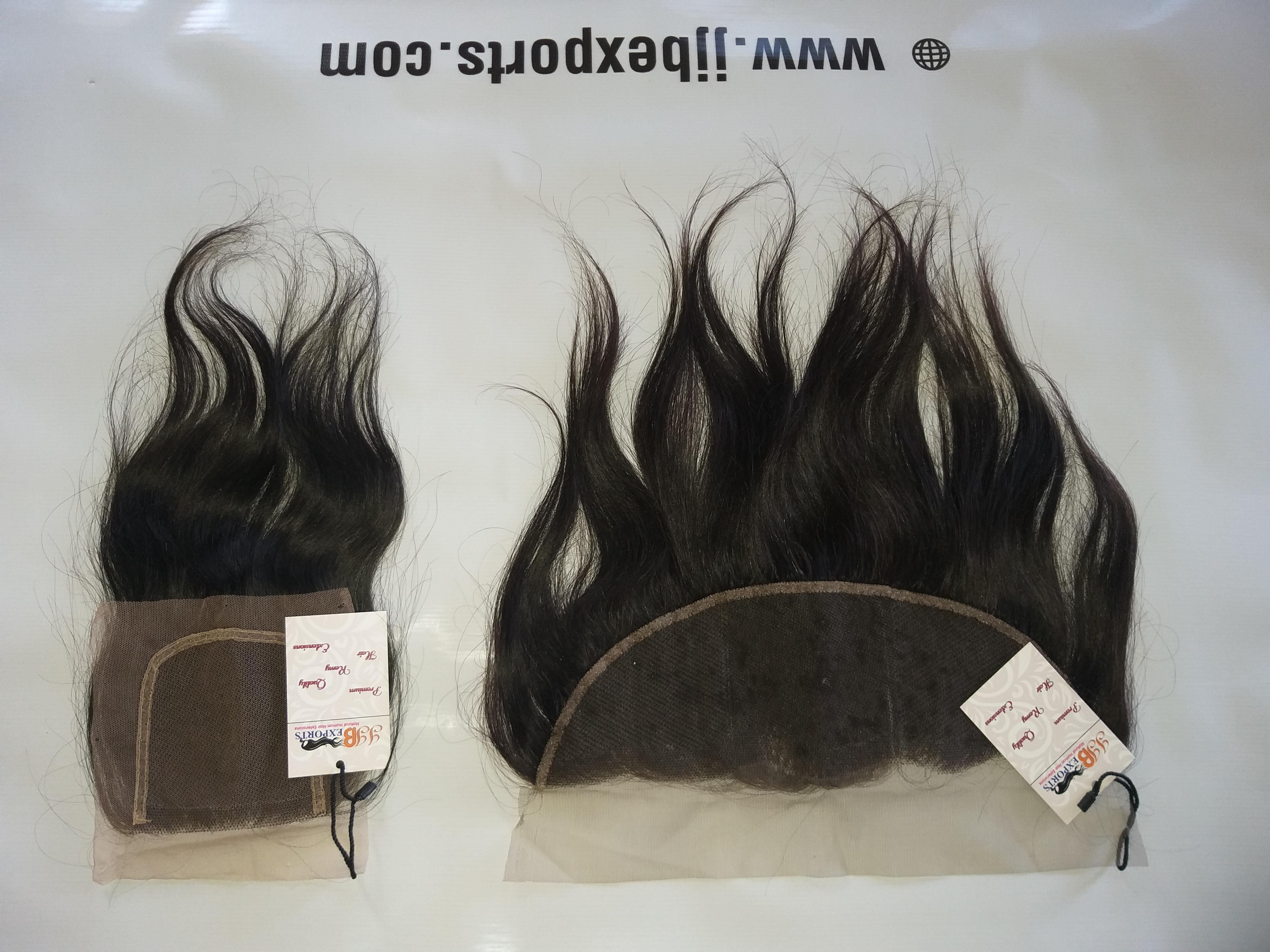 Natural Indian Virgin Swiss Transparent Hair Frontal Closure