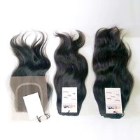 Natural Raw Unprocessed Virgin Wavy Hair Bundle With Lace Closure