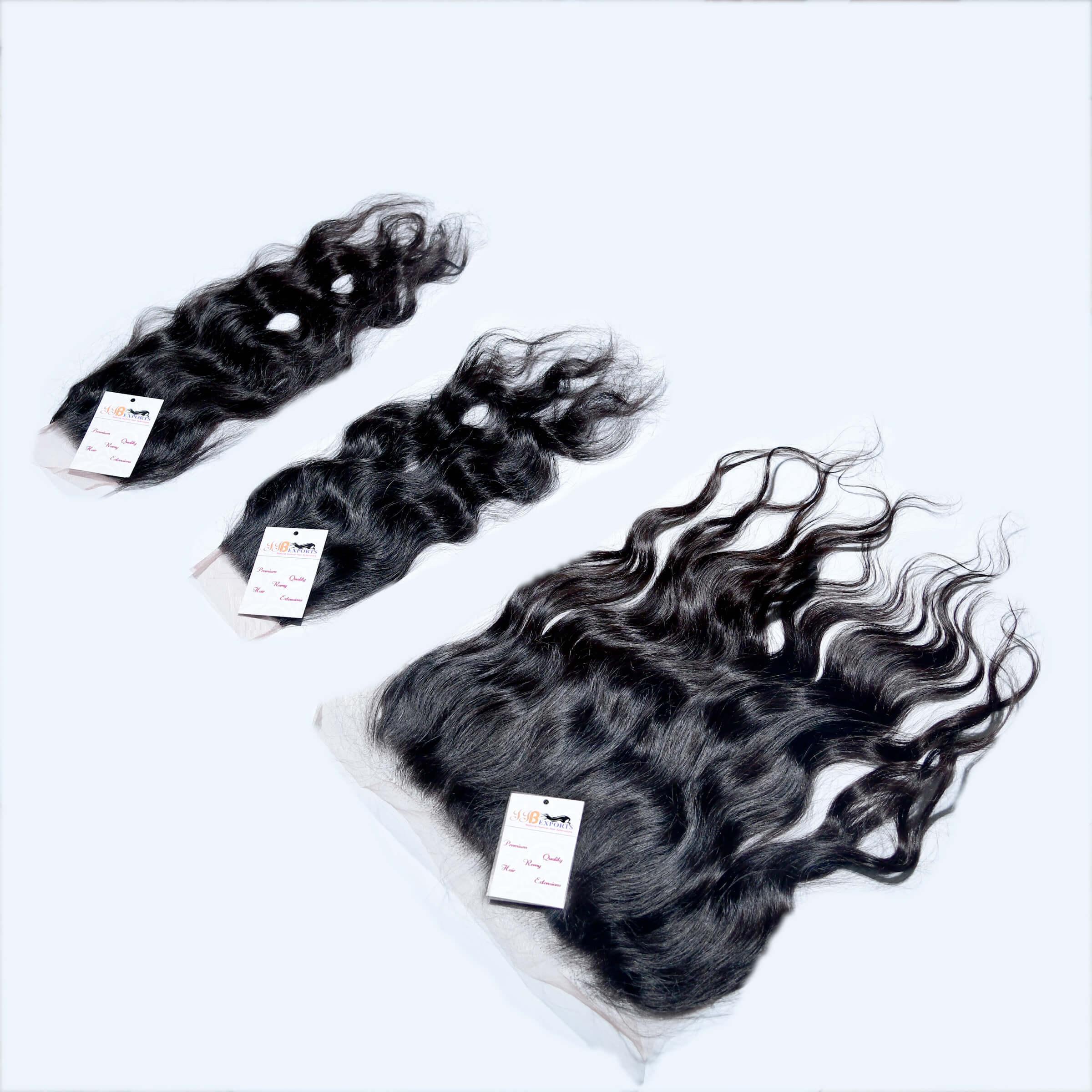 Natural Raw Virgin Indian Wavy Hair Thin HD Lace Closure Frontal Hair