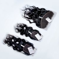 Top Quality Virgin Remy Indian Natural Raw Wavy Thin HD Lace Frontal Closure